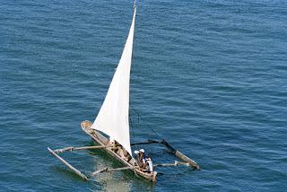 fishing boat, Kenya, Mombasa, Indian Ocean