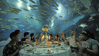 Chinese diners under the sea