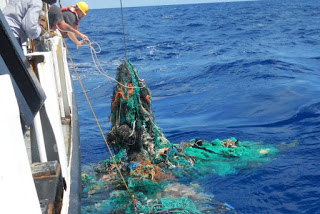 Great Pacific Garbage Patch, abandoned fishing gear, marine plastic pollution