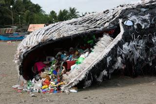 plastic whale, whale, Greenpeace