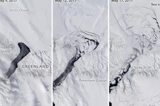 Petermann glacier, glacier, iceberg, Greenland ice sheet